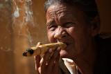 Enjoying A Cheroot In        Burma Myanmar