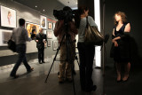 ABC-TV news team interviewing  featured photographer Lauren Greenfield