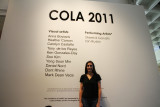 the COLA exhibition poster
