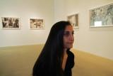 Anna Boyiazis with her photographs
