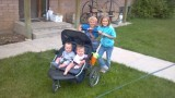 Taking care of twins at the Robinson Farm