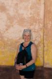 Lovely lady, lovely background