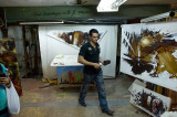 Amazing artist - many photos of his gallery which he encouraged us to take