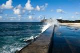 Seawall on the famous Malecón (seawall drive) in Havana