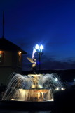 Fountain in front of The Riviera, Lake Geneva, Wisconsin