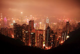 Hong Kong night view from Victoria Peak