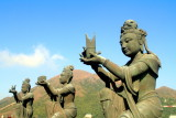 Devas offering gifts to Tian Tan Buddha, Ngong Ping, Hong Kong