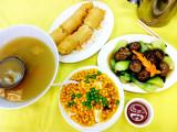 Vegeterian meal, Po Lin Monastery, Hong Kong