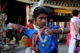 Dancer depicting Anger, Dilli Haat, Delhi