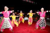The acrobatic dancers, Dilli Haat, Delhi