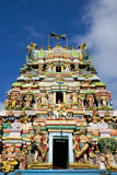 Pazhamudhircholai tower facade, Madurai, India