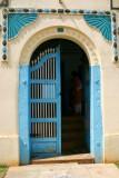 Blue door, Karaikudi, India