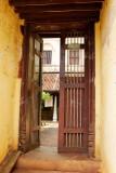 Door leading to an ancient house, Karaikudi, India