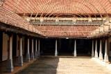 The courtyard of the house, Karaikudi, India