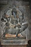 Ganesha and his mouse carving, Sivan Temple, Karaikudi, India