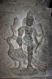 Muruga and his peacock carving, Sivan Temple, Karaikudi, India