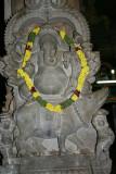 Ganesha with his mouse sculpture, Sivan Temple, Karaikudi, India