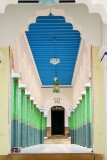 The pillars lead you in, Chettinad Palace, Karaikudi, India