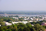 Trichy on the banks of the Cauvery, view from Rock Fort, Tiruchirapalli (Trichy)