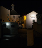Bowmore distilleri at night