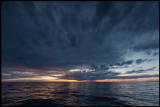 Beautiful raincloud over Kalmarsund