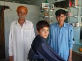 Raheem hajaam.One of the oldest barbers in Samahni town