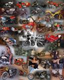 Full Throttle aka Vintage Motorcycle collage