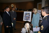 Unveiling of For Our Troops collage