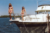 Brianna and model on the boat