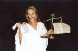 Roberta as Lady Justice