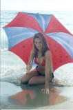 Roberta with Umbrella on Beach