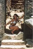 Roberta in the doorway of the Ruins