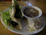 IMG_4906 Hot tacos beans and rice for lunch