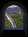 Looking thru a small window at a great wall!