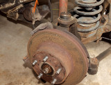 ...And Started Disassembling The Front Brakes...Ya, They Need Work Too..!!