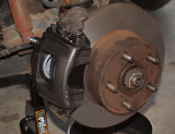 Caliper Installed...All Brake Work Finished...I Hope..!!