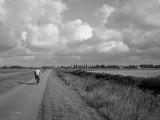 Lone biker..