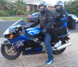 David's motorbike.