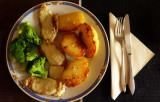 something healthy, Soja with chees,brocoli and potatos