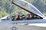 FA-18 Super Hornet Crew after a great performance.