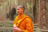 moine au Bayon(Angkor)
