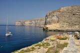 Xlendi Bay by daylight