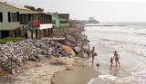 Erosion on the beach