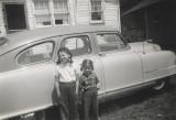 Linda &  Maria with 1950 Nash Ambassador Statesman