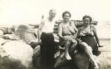 Angel & Maria Diez with Mrs. Perez on the Jetty