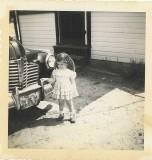 Linda & '41 Buick at Spanish Camp