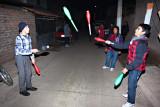 Jugglers Practicing