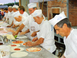 Eight Pizza Chefs