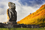 First Re-Erected Moai