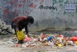 China digging through garbage